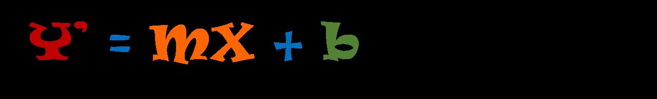 Regression equation image