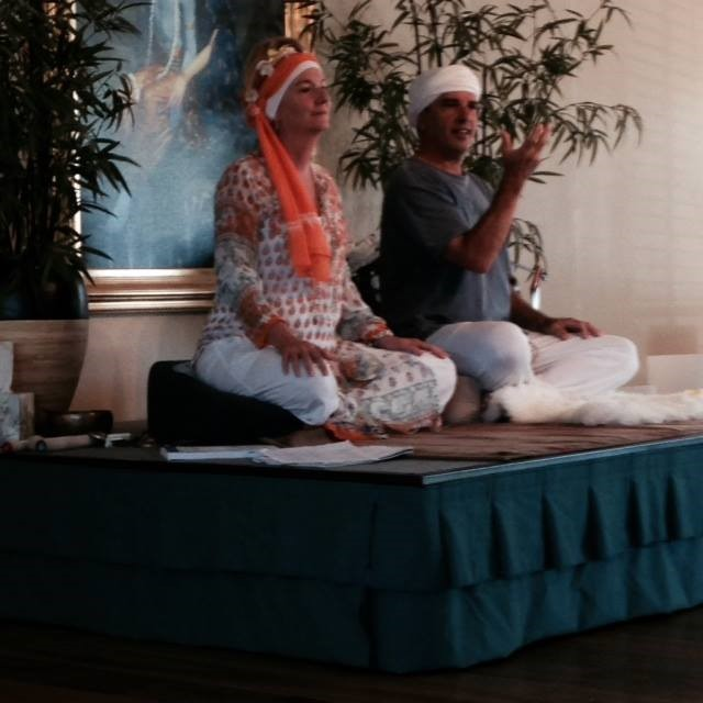 Mahanraj Kaur & Mahanraj Singh teaching at Great Divine Flow Yoga Studio in Vista, California