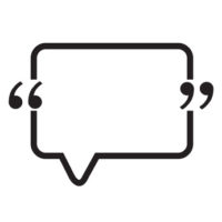 Quotation Mark Speech Bubble sign icon Illustration design