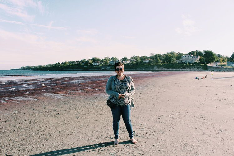 Casee on the beach overcoming fear and anxiety. The Brave Files Podcast.