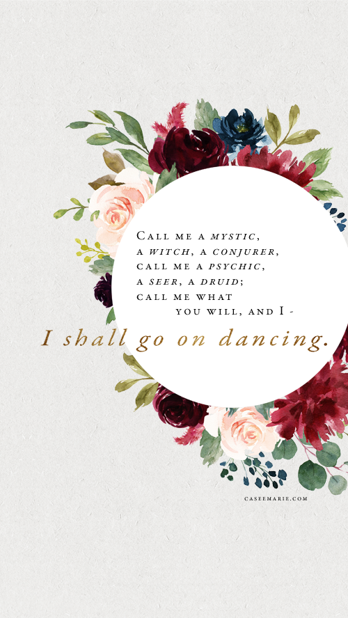 Casee, I shall go on dancing, art print, healing. The Brave Files Podcast.