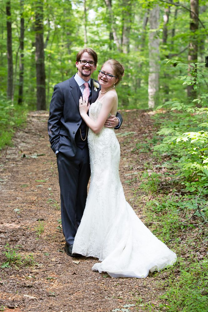 Cassandra and her husband Dillon on their wedding day.