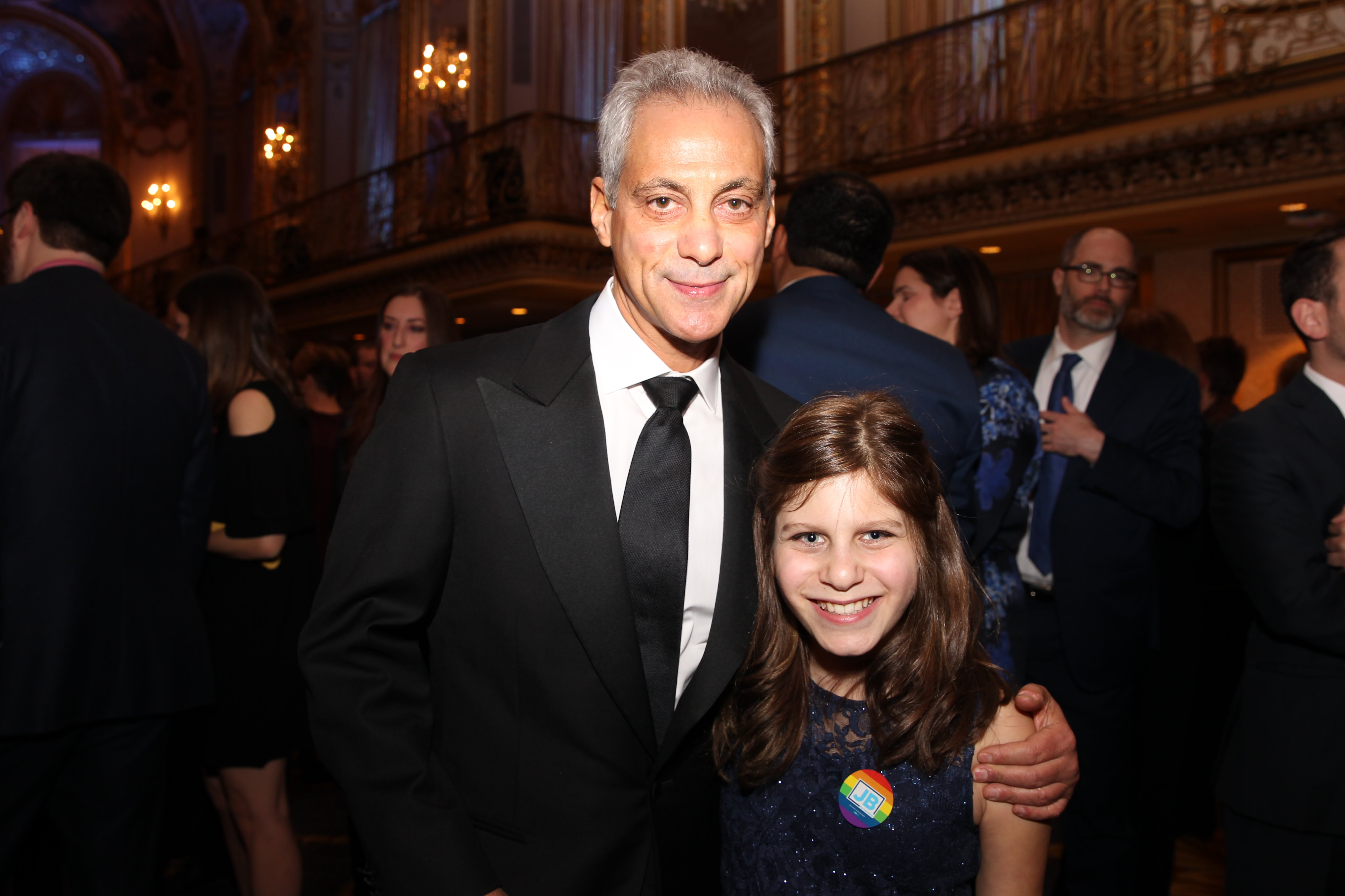 Chazzie meets Chicago Mayor, Rahm Emanuel at the Equality Illinois Gala