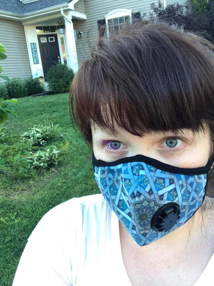 When air conditions are bad, Dana wears a face mask to be outside. Saving her own life.