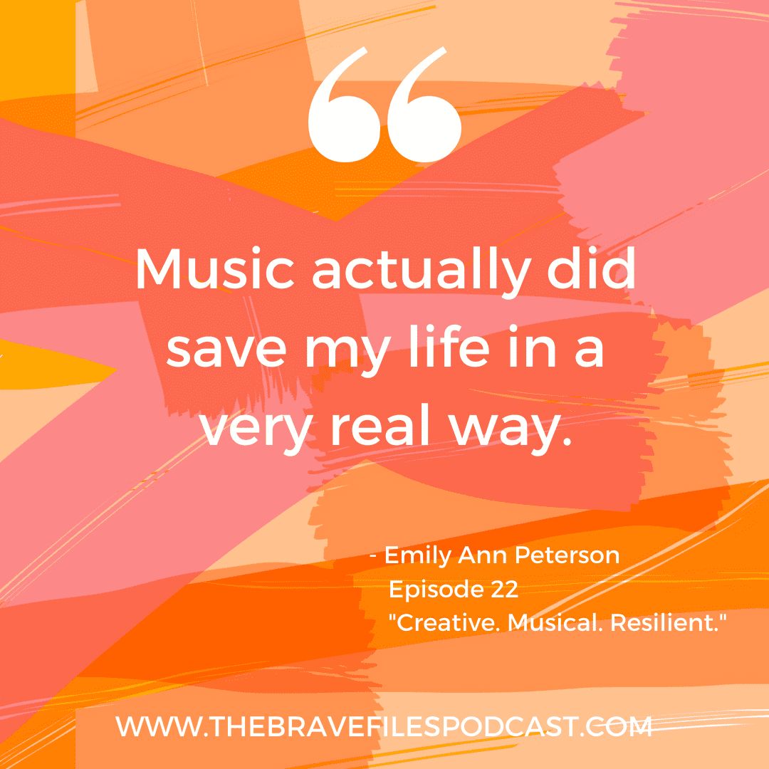 Emily Ann Peterson talks Bare Naked bravery with Heather Vickery on The Brave Files Podcast