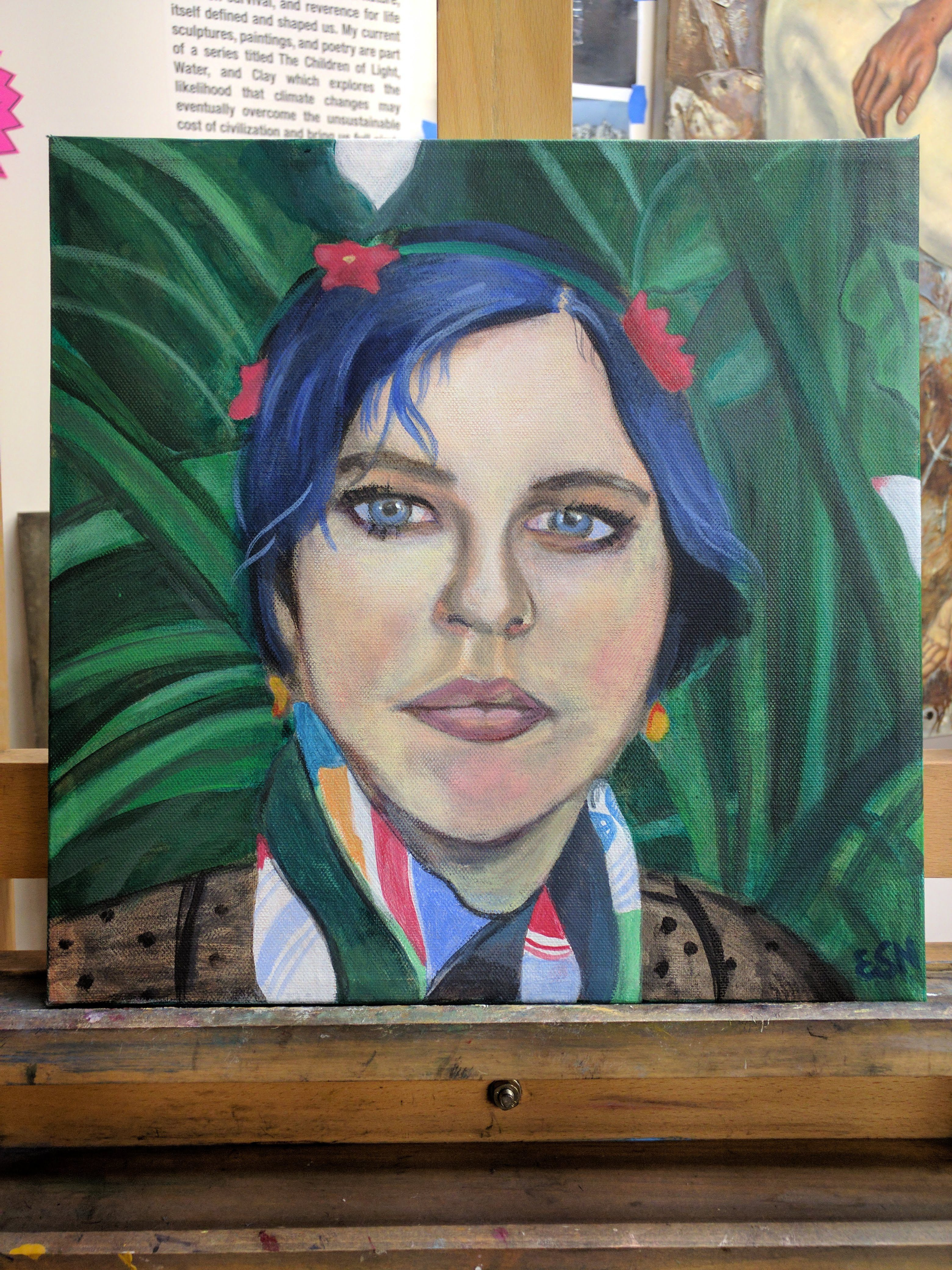 Art as a form of saving lives. Erin Stephens-North paints a self portrait. The Brave Files Podcast.