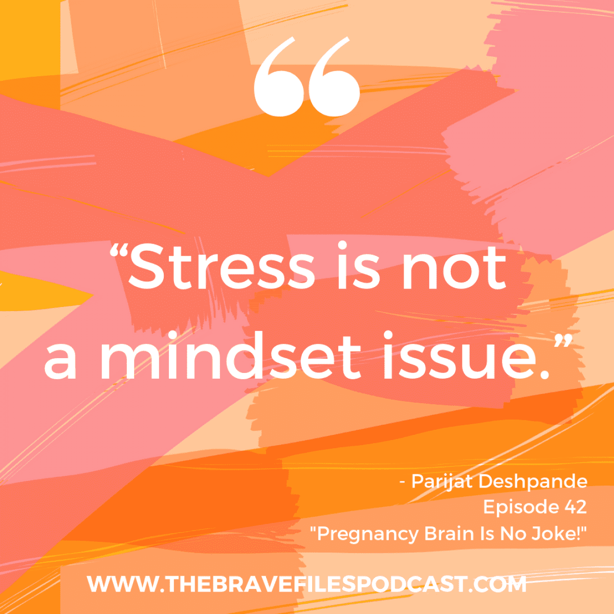 Parijat Deshpande talks to Heather Vickery about managing stress. It's more than mindset! The Brave Files Podcast.