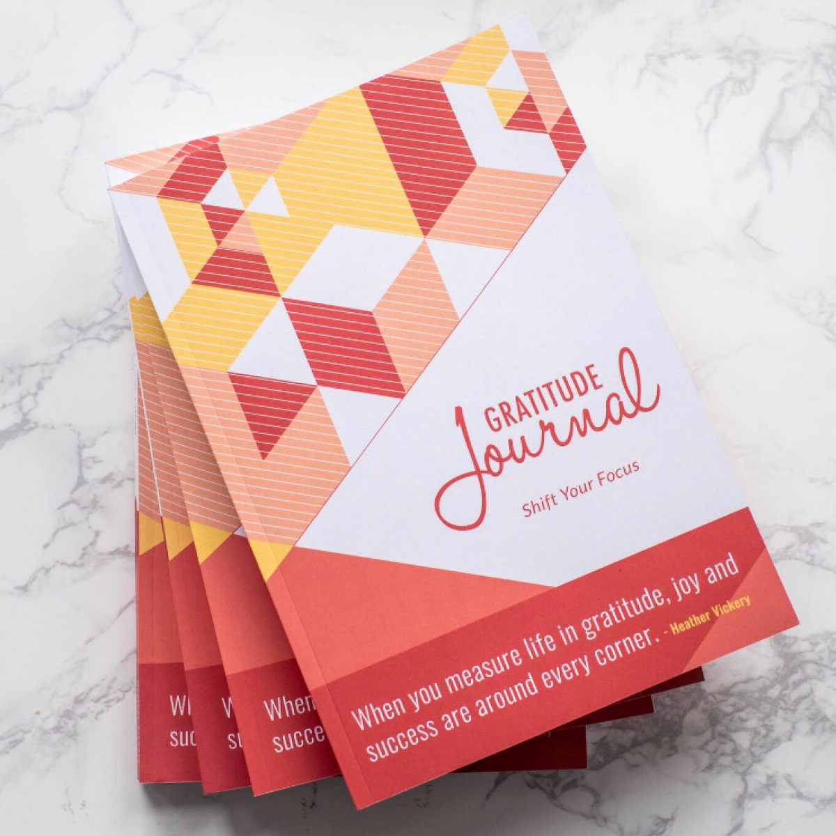 Success and Leadership Coach, Heather Vickery author's New book. Gratitude Journal: Shift Your Focus