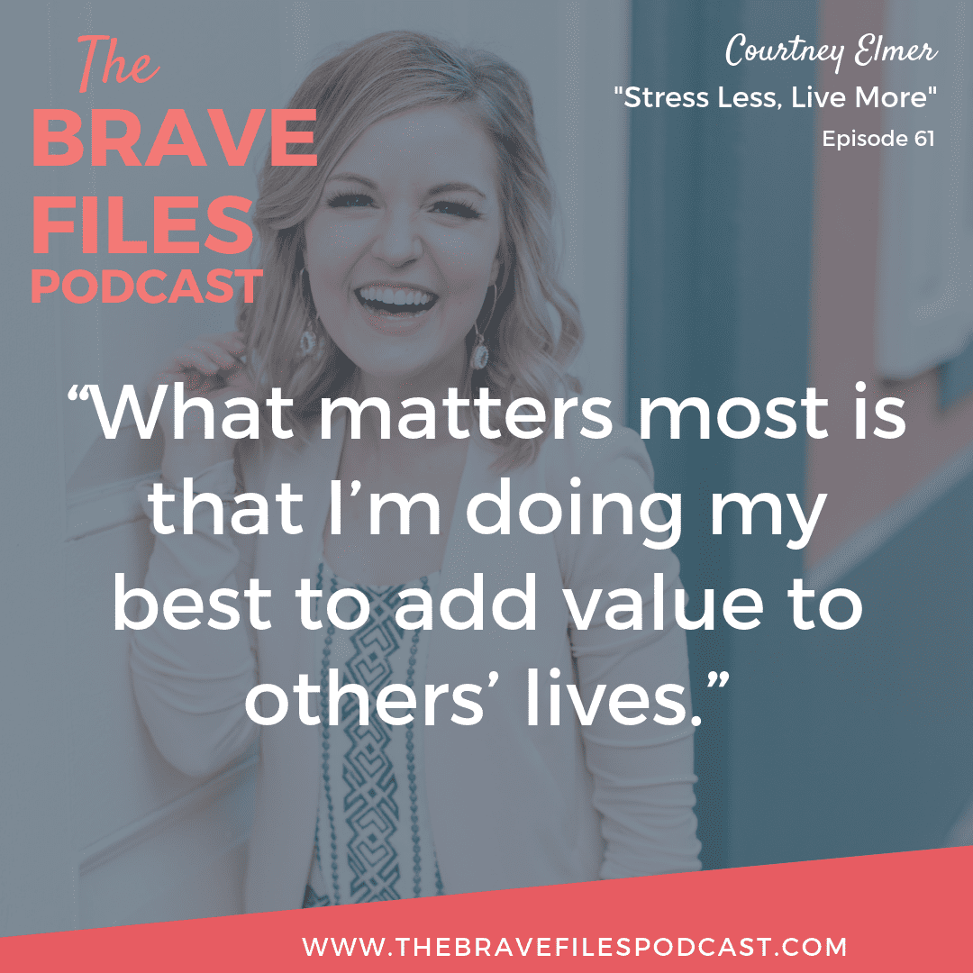 After a shocking cancer diagnosis at the young age of 25, Courtney Elmer learned to slow down, stress less, and live more. The Brave Files.