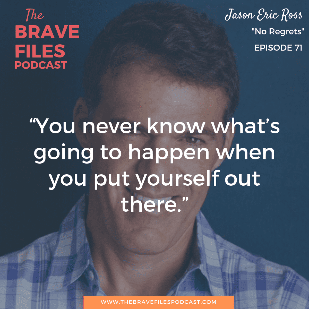 Throughout his lifetime, Jason Eric Ross reinvented himself over and over. Amazingly, he discovered a way to juggle it all as a licensed psychotherapist, mental health counselor, writer, and actor. He never sacrificed his goals demonstrating that determination and focus lead to a life of no regrets. The Brave Files.