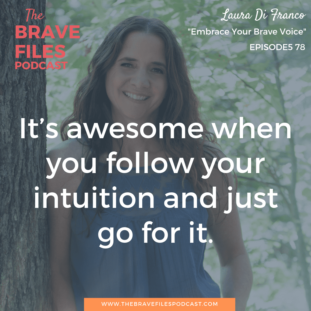 As a holistic healer and writer, Laura Di Franco shares her own brave writing process and teaches others to overcome their fears, share their voice, and live in authentic way. The Brave Files.