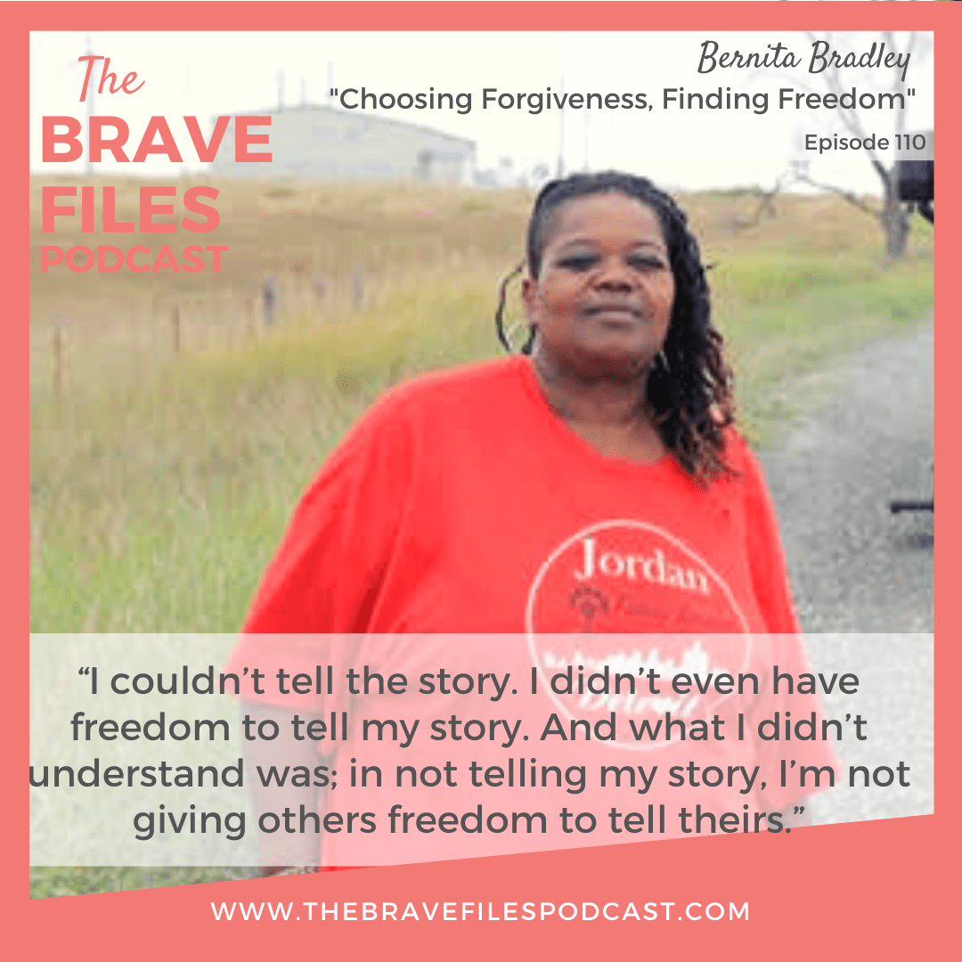 Bernita Bradley is a powerhouse! In this episode, she shares the surprising event that led her from being a bullied and suicidal teenager to the inspiring leader she is today. We learn how she harnessed the power of forgiveness to change her life and the lives of people in her community.
