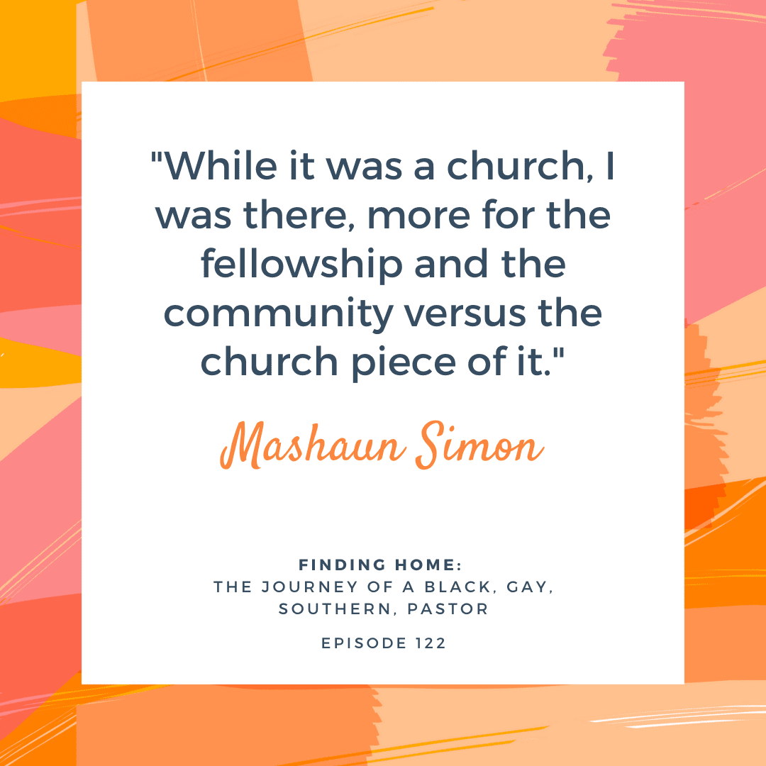 The Journey of Mashaun Simon, a Black, Gay, Southern, Pastor. After he turned his back on all organized religion, Simon finally discovered that love, true love, isn't constrained by the boundaries of religion, sexual orientation, or race. The esteemed writer, podcast host, pastor, and antiracism activist shares his inspiring story with us.