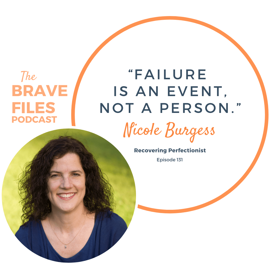 Nicole Burgess of the Soulfilled Sisterhood podcast about being a recovering perfectionist and why it matters. confronting your perfectionism is perpetual work. Mind-Body Connection. The Brave Files Podcast with Heather Vickery.
