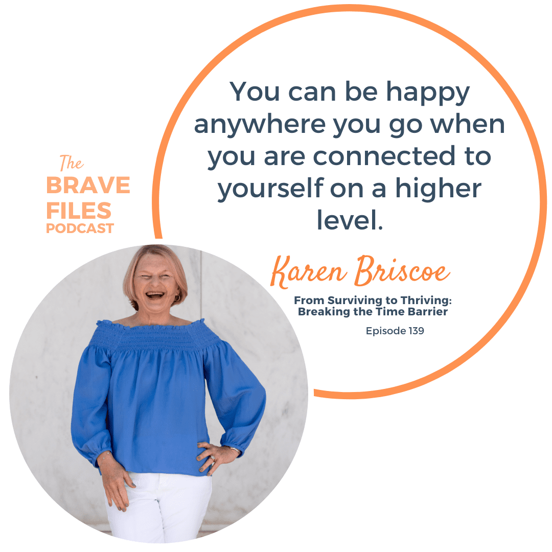 Time management needs a makeover. Karen Briscoe talkings about Flipping Time and setting yourself free on The Brave Files Podcast.
