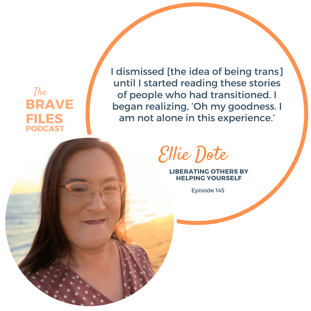 Though Ellie Dote grew up believing that she was a boy, she knew that something was different about her from a young age. Still, she remained in the closet for most of her life, until her HIV diagnosis caused her to question everything. Now, Ellie shares her story because she believes that when we know better, we do better. The Brave Files Podcast. Religious trauma.
