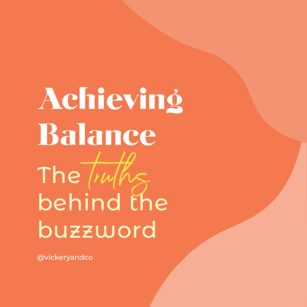 Though I don't feel as strongly about it as some, I do think there is value in stopping to consider what balance really means or looks like in our own lives.