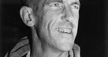Head and shoulders portrait of Edmund Percival Hillary circa 1953. Taken by an unidentified photographer.