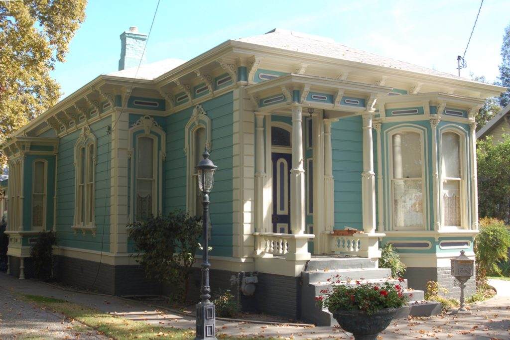 1876 Victorian house after painting and restoration in Woodland CA
