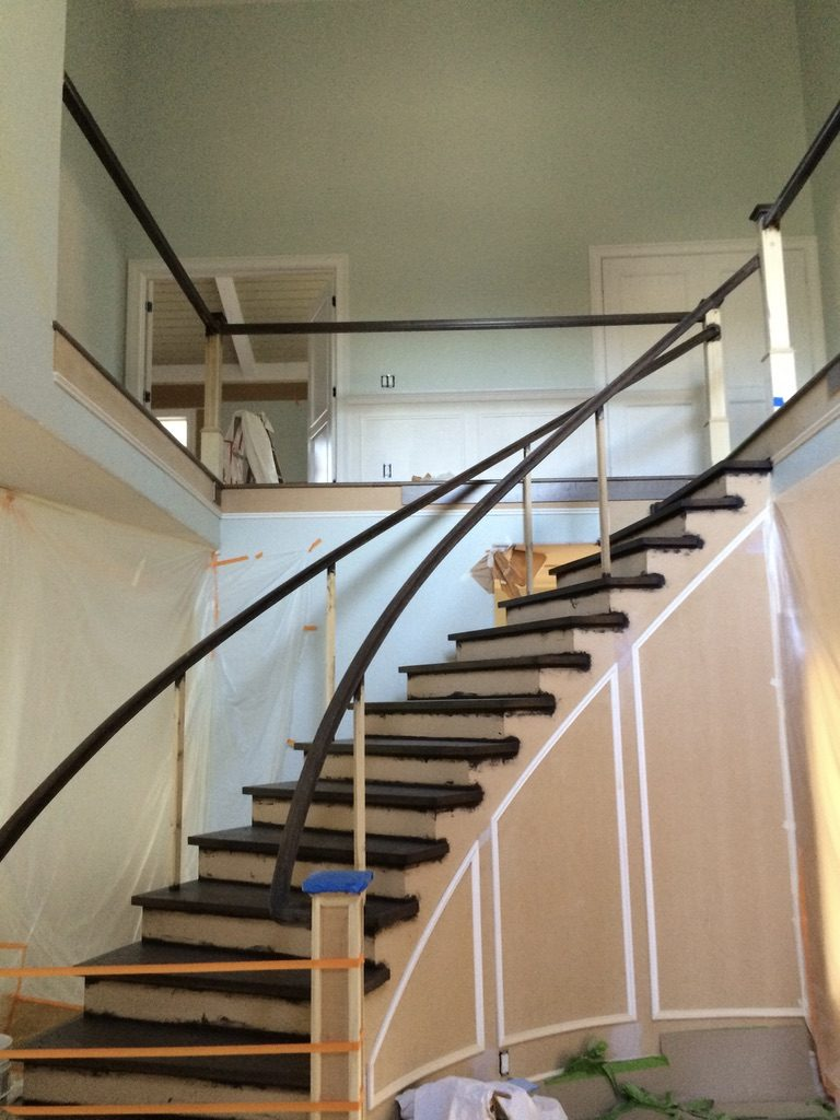 Stair Railing Repair Finish Woodland CA Easton Painting