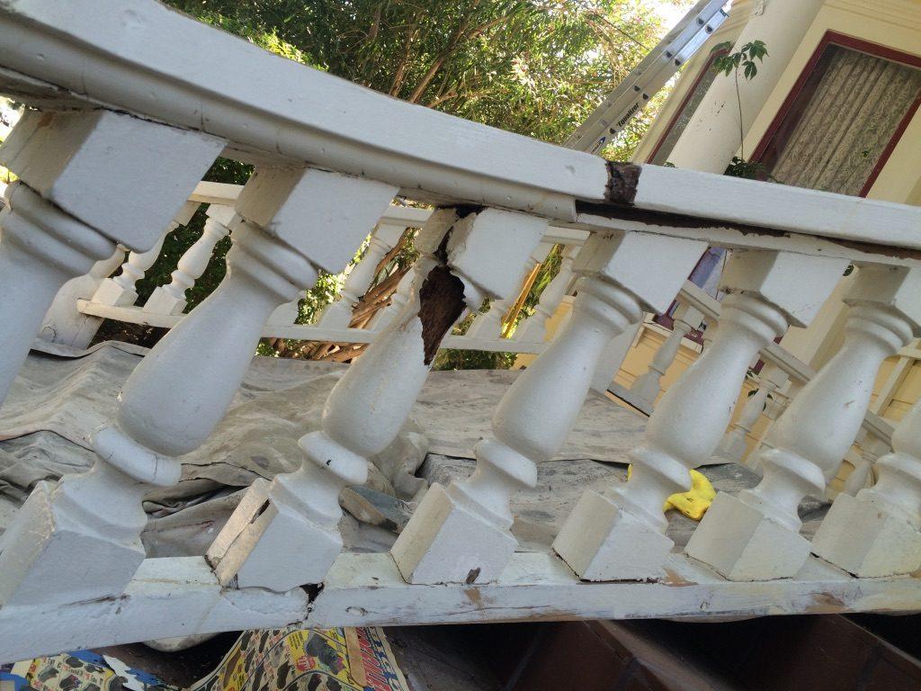 Stair Railing Repair Restoration using Abatron Wood Epoxy Woodland CA Easton Painting