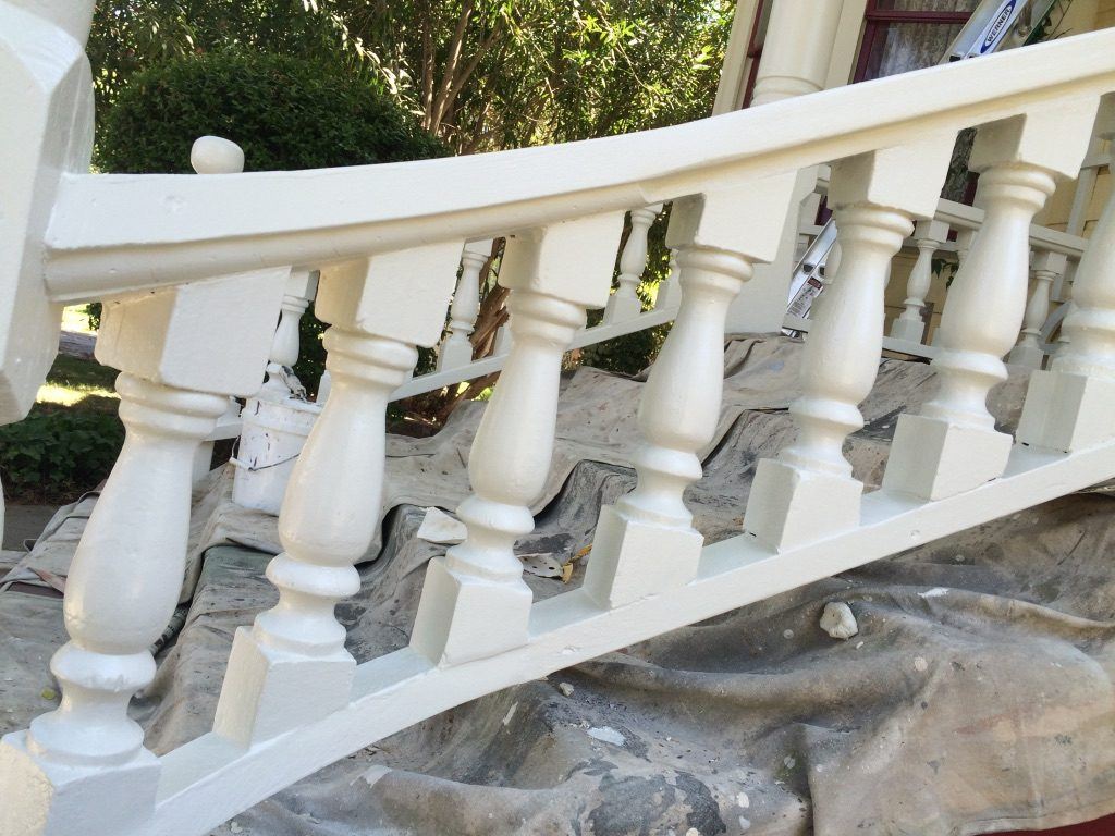 Stair Railing Repair Restoration using Abatron Wood Epoxy Woodland CA Easton Painting