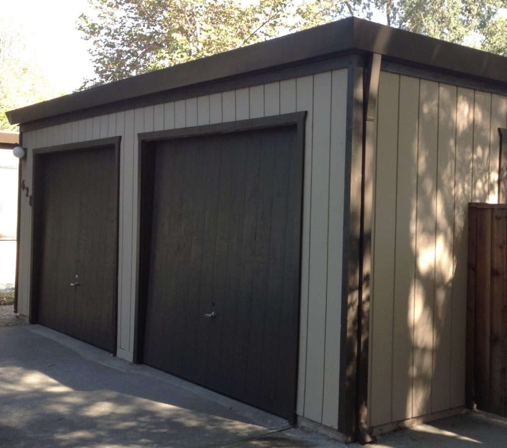 Wooden Garage Door Restoration Woodland CA Easton Painting 04