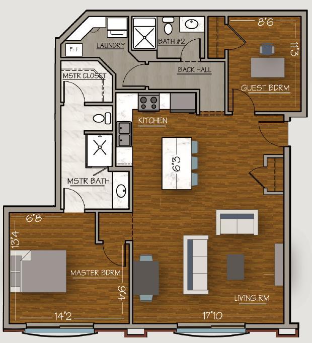 Dante Floor Plan 1