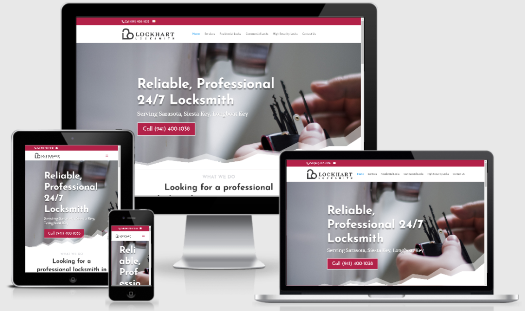 Vision Marketing locksmith website