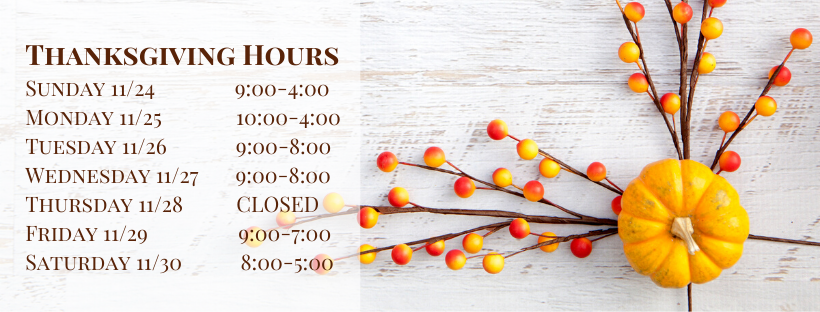 Thanksgiving Hours | Hair Salon Body & Soul, New Providence, NJ