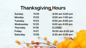 Thanksgiving Hours   Hair Salon Body and Soul   New Providence, NJ