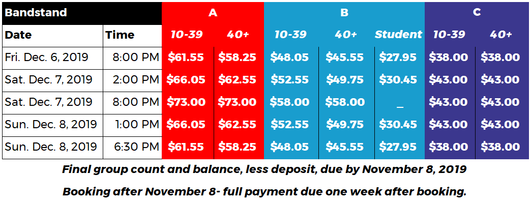 PHX-Bandstand-Website Pricing