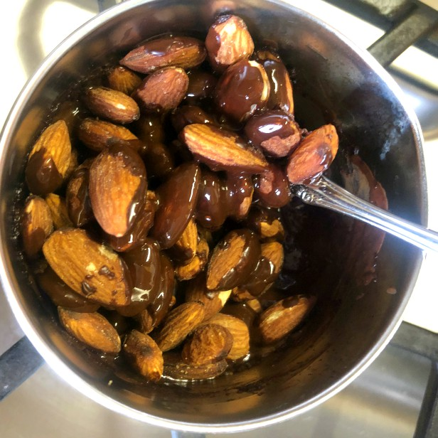 Coating Almonds with Chocolate
