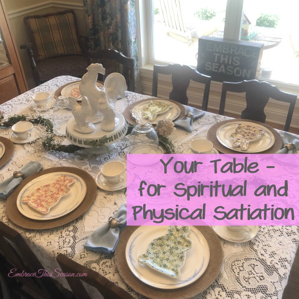 Spiritual and Physical Satiation