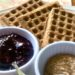 Waffles, Jam, and Almond Butter