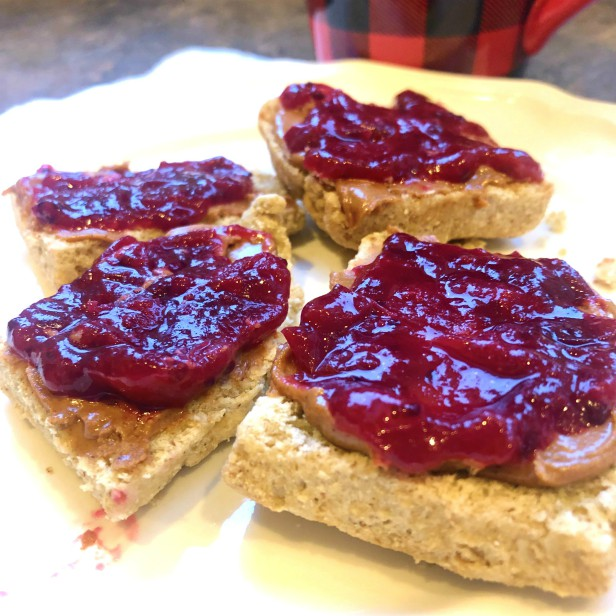 Cranberry Sauce on Biscuits
