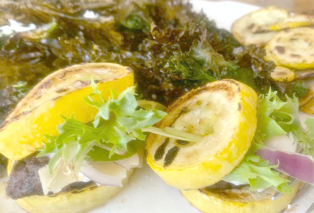 Squash Sliders and Kale Chips