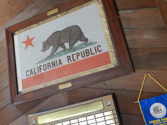Fairfax Native Sons Bear Republic Flag