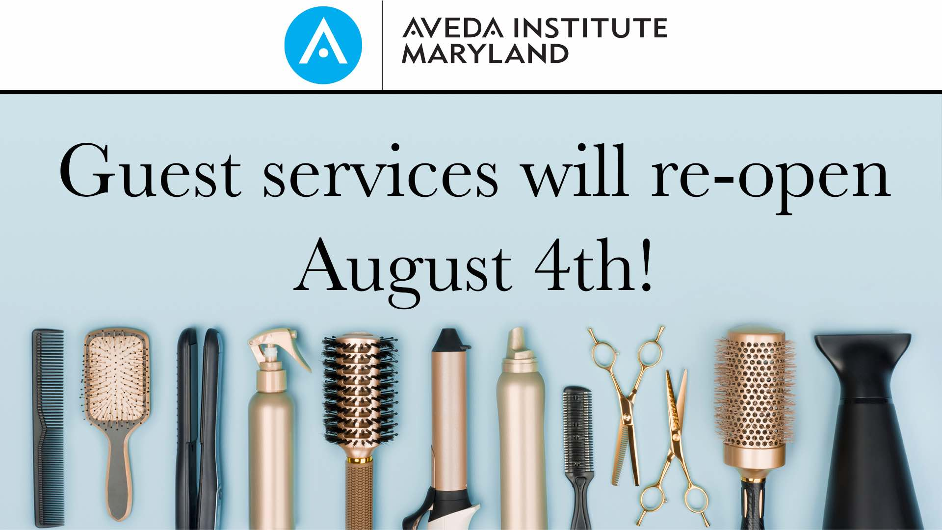 Aveda Institute Maryalnd Guest Services Re-Opening