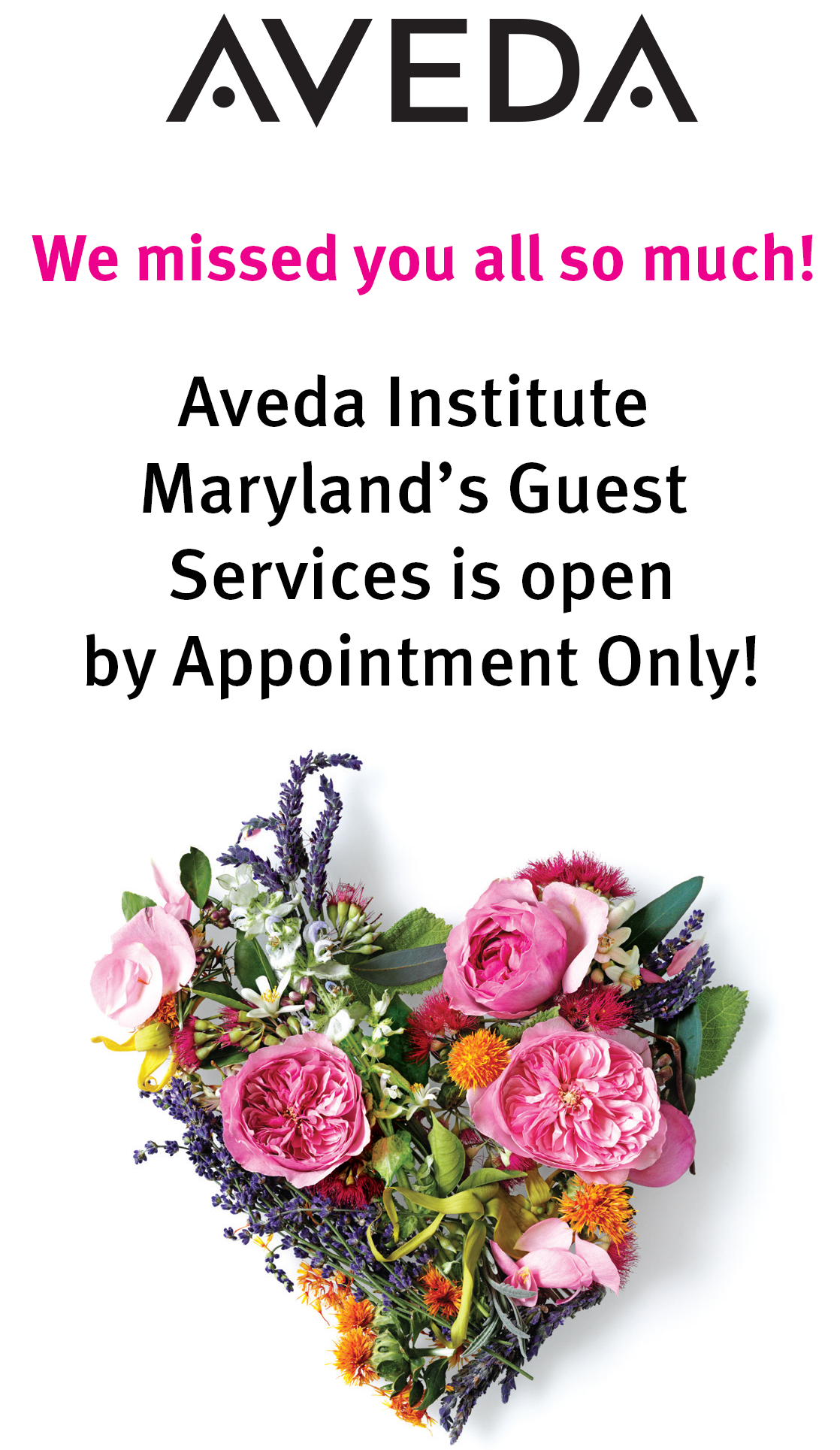 Aveda Institute Maryland Guest Services
