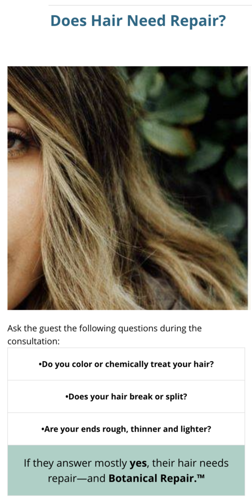 Does your hair need repair?