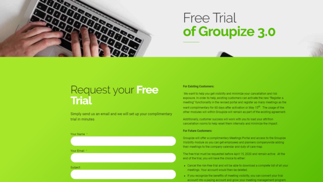Groupize Rolls Out Free Access of Groupize 3.0 for Global Business Events Community Disrupted by COVID-19