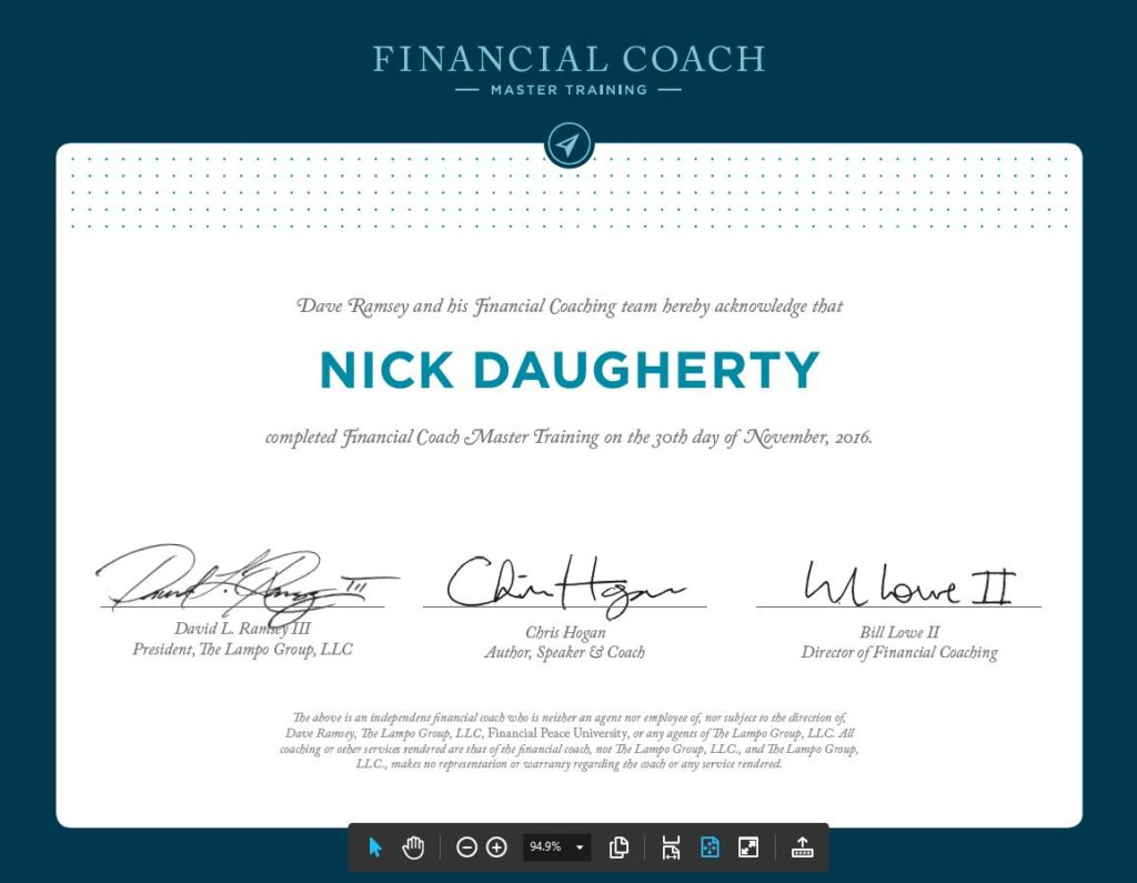 ramsey FCT certificate