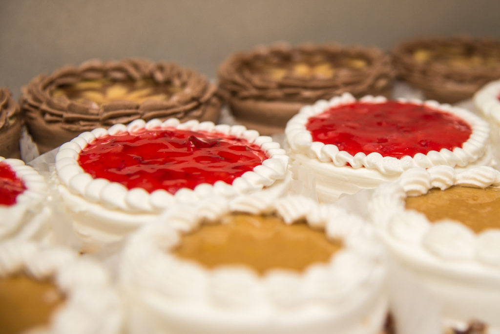 Photographers of Las Vegas - Product Photography - assortment of mini cakes in rows