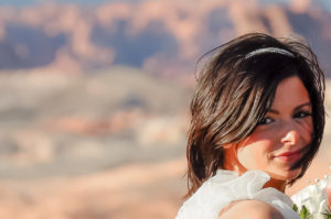 Photographers of Las Vegas - Wedding Photography - wedding bride at valley of fire