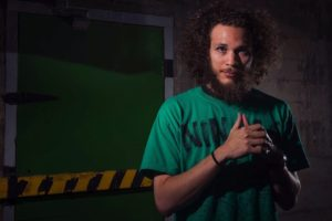 Photographers of Las Vegas - Portrait Photography - crazy hair crazy beard green shirt