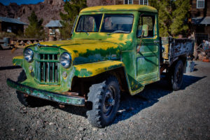 Photographers of Las Vegas - Concept Photography - Nelson Ghost town old green truck