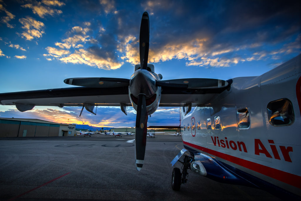 Photographers of Las Vegas - Corporate Photography - vision air propellers close-up at sunset