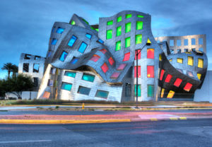 Photographers of Las Vegas - Architectural Photography - brain institute Las Vegas with colored windows