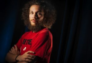 Photographers of Las Vegas - Portrait Photography - Red Shirt Crazy Hair